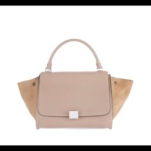 Celine medium trapeze beige nude leather